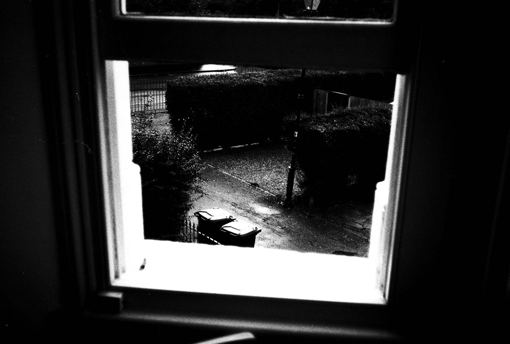 black and white | view through the window